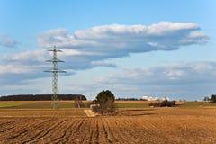 Torretta di elettricità nel bello paesaggio Fotografia Stock