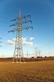 Torretta di elettricità per energia Fotografia Stock