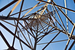 Torretta di elettricità per energia Immagini Stock Libere da Diritti