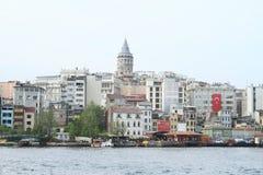 Torretta di Galata a Costantinopoli Immagini Stock
