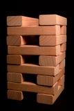 Torretta di legno del mattone Immagini Stock