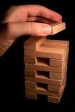 Torretta di legno del mattone Immagini Stock Libere da Diritti