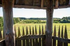 Torretta di legno dell'allerta Fotografia Stock