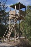 Torretta di legno della vigilanza Immagini Stock Libere da Diritti