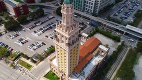 Torretta di libertà di Miami stock footage