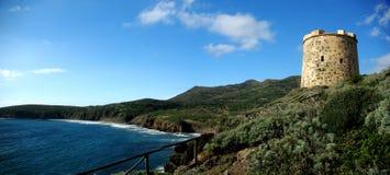 Torretta di Oporto Cannai (isola di S.Antioco) fotografia stock