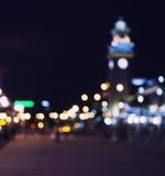 Torretta di orologio alla notte Immagine Stock