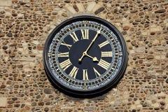 Torretta di orologio antica Fotografia Stock
