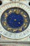 Torretta di orologio del quadrato di contrassegno santo, Venezia fotografie stock libere da diritti