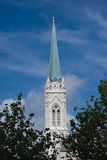 Torretta di orologio della cattedrale Fotografia Stock