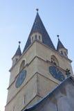 Torretta di orologio della chiesa Fotografie Stock Libere da Diritti