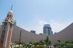 Torretta di orologio di Hong Kong e centro culturale Immagini Stock