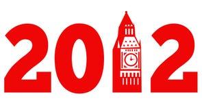Torretta di orologio di Londra grande Ben 2012 Fotografie Stock Libere da Diritti