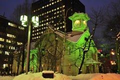 Torretta di orologio di Sapporo Fotografie Stock