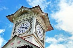 Torretta di orologio di Sapporo. Fotografia Stock