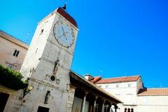 Torretta di orologio di Trogir Immagini Stock Libere da Diritti