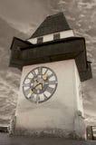 Torretta di orologio a Graz immagine stock libera da diritti