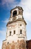 Torretta di orologio medioevale in Vyborg Fotografia Stock Libera da Diritti