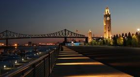 Torretta di orologio a Montreal Fotografia Stock