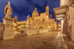 Torretta di orologio di Palermo Cathedral sicily fotografia stock