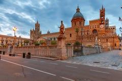 Torretta di orologio di Palermo Cathedral sicily fotografie stock