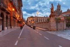 Torretta di orologio di Palermo Cathedral sicily fotografia stock libera da diritti