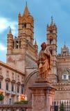 Torretta di orologio di Palermo Cathedral sicily fotografie stock libere da diritti