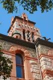 Torretta di orologio principale del tribunale in Waxahachie, il Texas Fotografia Stock Libera da Diritti