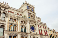Torretta di orologio a Venezia Immagine Stock Libera da Diritti