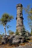 Torretta di pietra di prospettiva, Decinsky Sneznik Immagini Stock