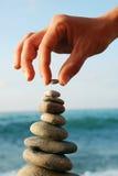Torretta di pietra equilibrata Immagine Stock Libera da Diritti
