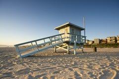 Torretta di protezione di vita al tramonto Fotografia Stock Libera da Diritti
