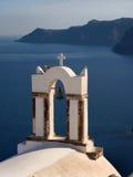Torretta di segnalatore acustico della chiesa greca fotografia stock