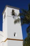 Torretta di segnalatore acustico della chiesa, moneta, Spagna. Fotografia Stock Libera da Diritti