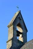Torretta di segnalatore acustico della siluetta a Avila, spagna Fotografia Stock Libera da Diritti