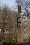 Torretta di segnalatore acustico della siluetta a Avila, spagna Fotografia Stock