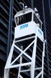 Torretta di sorveglianza del Dipartimento di Polizia di New York Fotografie Stock Libere da Diritti