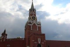 Torretta di Spasskaya a Mosca Immagini Stock