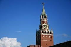 Torretta di Spasskaya di Mosca Kremlin Foto a colori Fotografia Stock Libera da Diritti