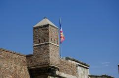 Torretta di vecchio castello Fotografia Stock