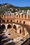 Torretta e castello rossi Fotografie Stock Libere da Diritti