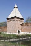 Torretta e parete della fortezza di Smolensk Immagini Stock Libere da Diritti