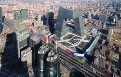 Torretta economica centro-CCTV diCBD-Pechino Fotografia Stock