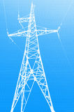 Torretta elettrica ad alta tensione illustrazione di stock