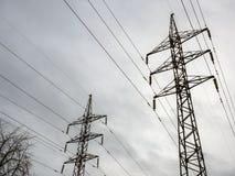 Torretta elettrica ad alta tensione Concetto di potere Fotografia Stock Libera da Diritti