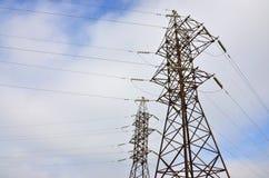 Torretta elettrica ad alta tensione Pilone della trasmissione di elettricità Immagine Stock Libera da Diritti