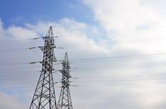 Torretta elettrica ad alta tensione Pilone della trasmissione di elettricità Fotografia Stock Libera da Diritti