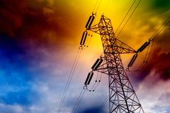 Torretta elettrica della trasmissione Fotografia Stock