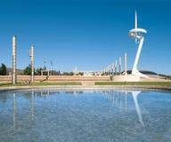 Torretta famosa della TV di Barcellona in Spagna, Europa. Fotografia Stock