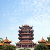 Torretta gialla Wuhan Cina della gru Fotografia Stock